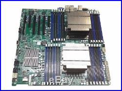 Supermicro X9DRi-LN4F+ Dual E5-2630v1 CPU LGA2011 v1.20 Motherboard Heatsink I/O