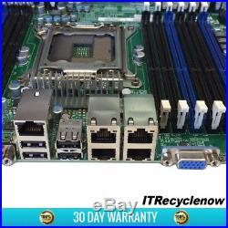 Supermicro X9DRi-LN4F+ Motherboard 2x E5-2630v1 6-Core CPU LGA2011 Heatsink I/O