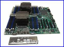 Supermicro X9DRi-LN4F+ v1.10 Motherboard 2x E5-2620 LGA2011 8GB DDR3 2U Heatsink