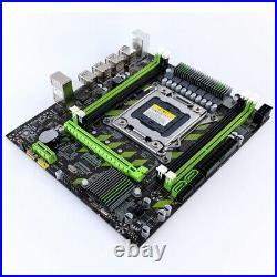 X79 X79G Motherboard Set with LGA2011 Combos Xeon E5 2620 CPU 2Pcs x 4GB = S6Q6
