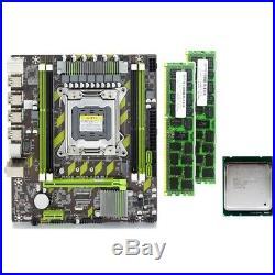 X79 X79G Motherboard Set with LGA2011 Combos Xeon E5 2620 CPU 2Pcsx4GB=8GB V4L5